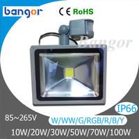 Waterproof LED Floodlight 10W 20W 30W 50W 70W 100W Pir Sensor LED Flood Light Spotlight Outdoor lighting