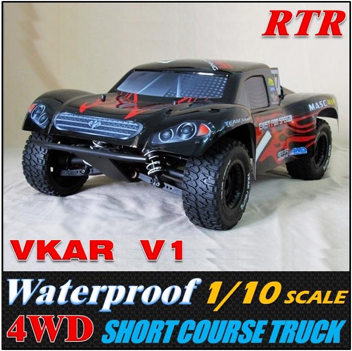 VKAR V1 Waterproof 1/10 4WD Off Road remote control car electronics,Short truck, rc cars, Free shipping(China (Mainland))