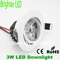 4pcs/lot 7W 5W 3W LED Ceiling Downlight Lamp High Power, Adjustable Down Light Aluminum 100-110LM/W AC85-265V Include Driver