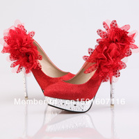 Free shipping high heel bridal shoes