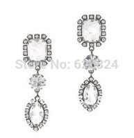 JC100 WHITE CRYSTAL BAUBLE EARRINGS Mix Shapes Brilliantly Cut Stones Dangle Earrings Fashion Brand Women Earrings No Min Order
