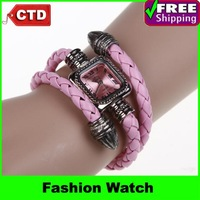 New Fashion Crystal Lady Wrist Watch Women Fashion Watch PU Wrist Watch for Dresses Students Wrist Watch Wholesale