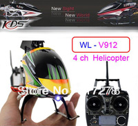 WL toys V912 Upgraded Version 52CM 2.4G 4CH RC Helicopter With Camera LCD Remote Control Gyro Ready To Fly+Free shippin girl toy