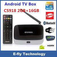 Quad Core RK3188 MK888B  Android 4.4 TV Box ARM Cortex-A9 1.8Ghz 2GB RAM 16GB ROM AV Port+IR Remote Control cs918 android tv box