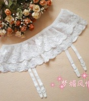 Sexy Lady 2Layer Hang Lace Garter Condole Belt Lingerie Skirt Stocking Suspender[040320]