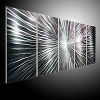 wall sculpture art, metal painting wall , original aluminum art oil painting Refraction line
