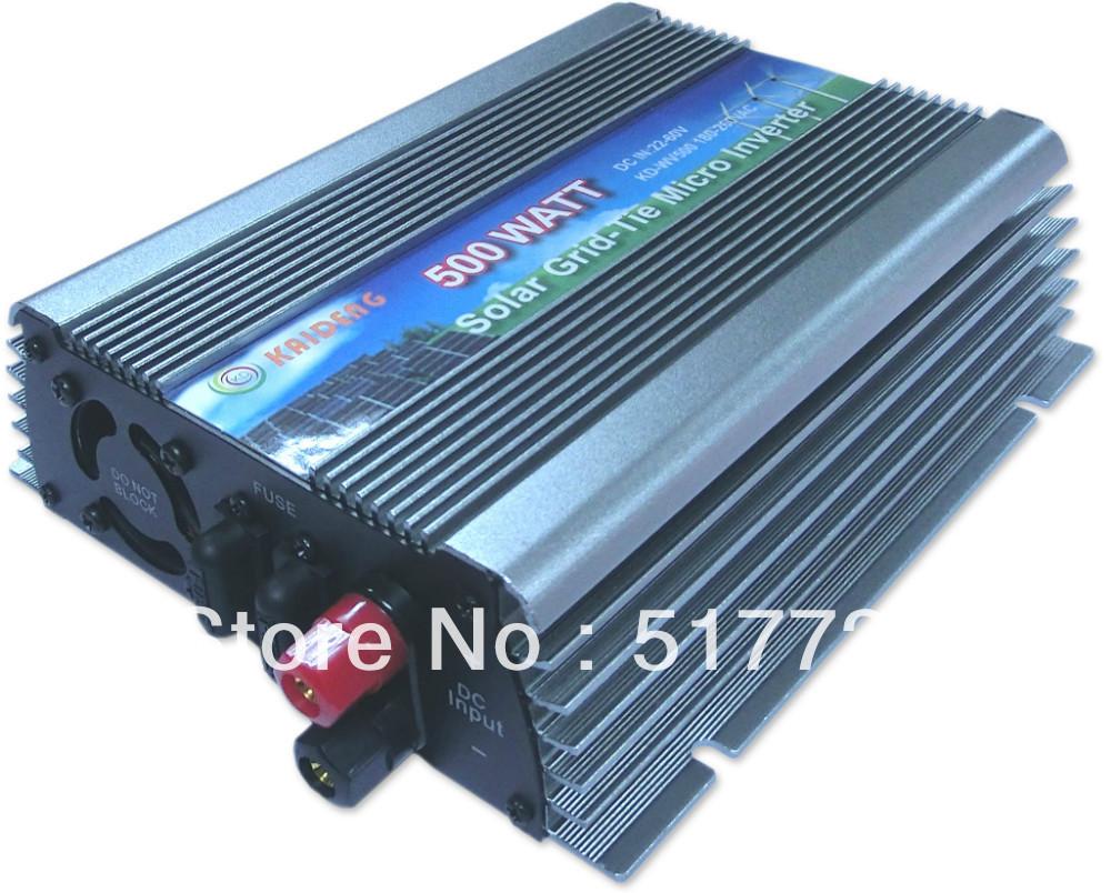 Freeshipping! hotsale 500w pure sine wave grid-tie inverter DC22-60v input 500w sol