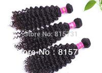 "3pcs/lot Mix Lenght Brazilian Virgin Hair AAAAA  Deep Curl water Wave 100% Human Hair Weft  12""-30""-Unprocessed Hair"