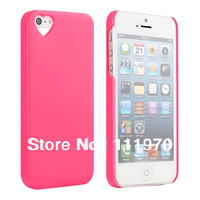 Love protective cover candy colors plastic hard case  for iPhone 5 5s mobile phone bag  free shipping