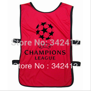 Free Shipping Top quality Champions League Soccer Group against Scrimmaging Vest,Soccer Training Vest Jersey For Men(China (Mainland))