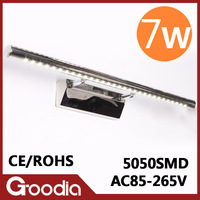 7w LED bathroom wall light fixtures AC85-265V Stainless Steel design light for living and dining .indoor wall lighting