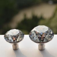 24pcs Furniture knobs drawer handles / Diamond Crystal knobs Dia. 30mm