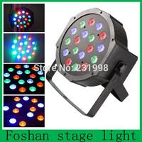 led moving head,(Retail)18pcs x 3W RGB Flat LED Par Lights With DMX512 Master-Slave Stand,stage dj bar disco effect Par Can