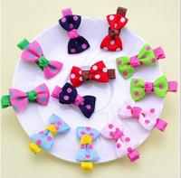 20pcs kids hair accessory baby hair clips child hair accessory  polka dot clips free shipping