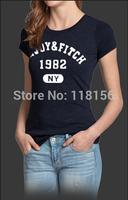 Summer New 2014 Women's T Shirt Short Sleeve Cotton T-shirts Quality Fashion Brand Design Causal Slim Tshirt For Women AJW01