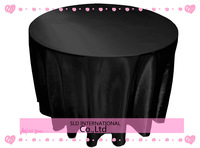 Black Satin Round Tablecloth For Weddings 90'' round wedding table cloth Free Shipping table cover