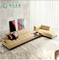 modern genuine leather combined sofa,living room sofa,in-home delivery by boat,DDU shipping service