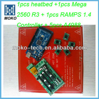 Printer PCB kit Reprap 1PCheatbed + 1PC Mega 2560 R3 +1PC Ramp 1.4 + 5PC A4988 pcb for 3D printer  kit Reprap
