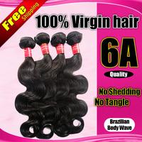 Brazilian Virgin Hair 3/4pcs lot Queen hair products Brazilian Body Wave Brazilian hair wefts unprocessed hair extension