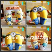 Free Shpping 2013 Hot Selling Minion/Despicable Me Travel Flight Plush Pillow Neck Rest Air Cushion