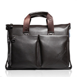 Genuine soft leather briefcase leather laptop bags for men men's shoulder bags business bag(China (Mainland))
