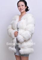 2013 New pattern winter autumn -summer new advanced simulation fox fur women fur coat leather jacket with fur