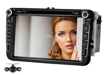 "For VW Golf Touran Jetta Caddy Polo W T5,2 Din 8""GPS Car DVD Player Styling,W/Bluetooth+AM/FM Radio+Audio+Camera,Steering Wheel"