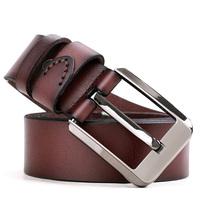 Fashion Vintage Metal Pin Buckle Genuine Leather Belt for Men P000231