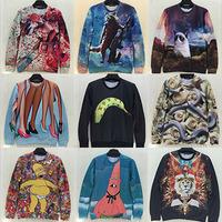 free shipping men/women print 3d sweaters Galaxy hoodies Pullovers animal 3D Sweatshirt top S/M/LXL