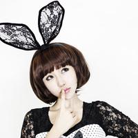 12pcs Hottest Party Headband Large Lace Bow Headband Rabbit Ears Hairband Women Hair Accessories Hairware