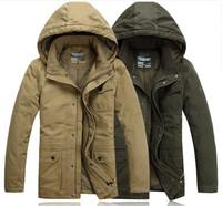 Big Size 4XL 5XL 6XL 100 Cotton The Khaki Army outwear & Coats & Jackets Men Winter Jacket With hood parkas XXXL XXXXL  XXXXXL
