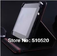 DHL free shipping Universal 7 inch PU Leather Flip Cover Case 7inch PC Tablet PU Leather Case  Velcro case 120pcs/lot