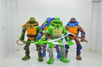"Classics anime Teenage mutant ninja turtles party supplies action figure toys 16cm(6.3"")PVC dolls 4 pcs/set 0124"