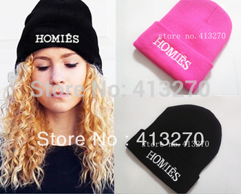 1Pcs Hot Selling New HOMIES Style Fashion Men Women Skull Beanie Hat Winter Fall Hiphop Warm Cap