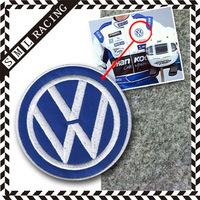 8.4cm blue vw volkswagen bora diy embroidery cloth fabric clothing badge car patches 100pcs/lot Free shipping