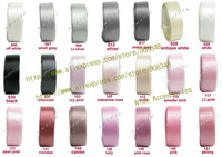 1/4''  ( 6mm ) Width 100% polyester Double Faced plain color satin ribbon 196 colors IN STOCK DIY Accessories DF06