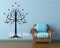 LOTR Lord of the Rings White Tree of Gondor Wall Art Stickers Decal DIY Home Decoration Wall Mural Removable Stickers 87x57cm
