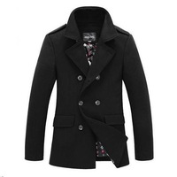New 2013 winter jacket men double breasted mens trench coat outdoors polo brand designed casual wool coats S261 free shipping