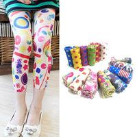 New Baby Kids Girls Leggings Trousers Pants Underwear Pattern Printed 5-12 Years Free shipping & Drop shipping