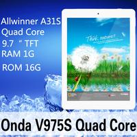 "In stock Original ONDA V975S 16GB WIFI Quad-Core  9.7"" TFT HDscreen  RAM1G ROM 16G Android 4.2 dual camera Front 200W Tablet  PC"