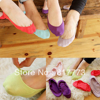 Free shipping (3pcs/lot) Cute socks solid color candy color sock socks sock slippers summer lace socks invisible socks