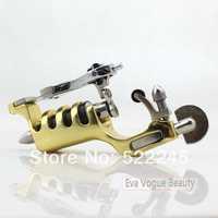 Free Shipping SUNSKIN Golden Fuselage Swiss Motor Clip Cord Tattoo Machine Multifunction Liner & Shader Tattoo Rotary Motor Gun