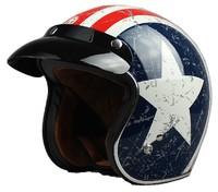 Free Shipping TORC Motorcycle helmet  casco moto vintage JET Helmet with America Star decoration super Composite Material V541
