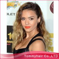 "1BT#27 two tone body lace wig!virgin Brazilian hair two tone glueless full lace wig&lace front wig,10""-24""130% density"