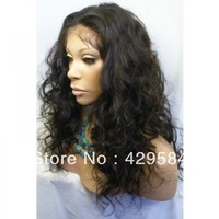 """Afro 16""""Curly #1B OFF Black Glueless Lace Front 100% Indian Human Hair Wigs With Baby Hair Bleach Knots ,In Stock !Free Shipping"""