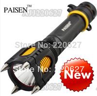 Hot 1600LM CREE XM-L T6 LED Flashlight Rescue Self-defense Torch Shocker Lanterns 5-modes Waterproof Handlight Free Shipping