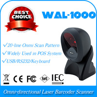 whole sale and retail WAL-1000-USB  Omni-directional 360 flatbed platform bar code barcode scanner reader collector