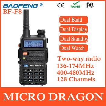 New BaoFeng BF-F8 Professional Transceiver Dual Band 128 Channel FM Ham Two Way Radio Walkie Talkie Transmitter cb Radio Station