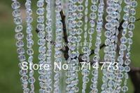 Acrylic Crystal Bead Garland Diamond Strand Wedding Decoration Curtain Chains Iridescence