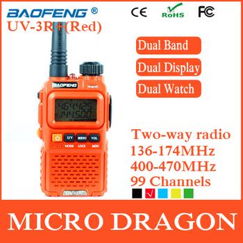 Original BaoFeng UV-3R+ Professional Dual Band Transceiver 99 Channels Two Way Radio Walkie Talkie Transmitter cb Radio Station